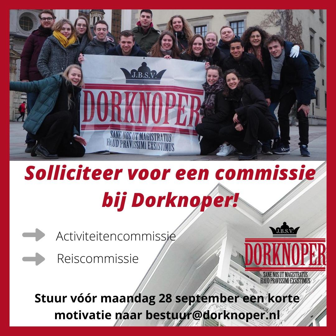 Commissie sollicitaties staan weer open!