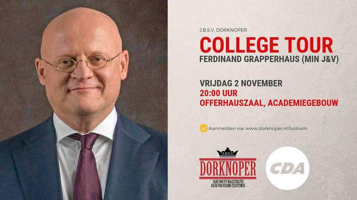 College Tour met minister Grapperhaus!